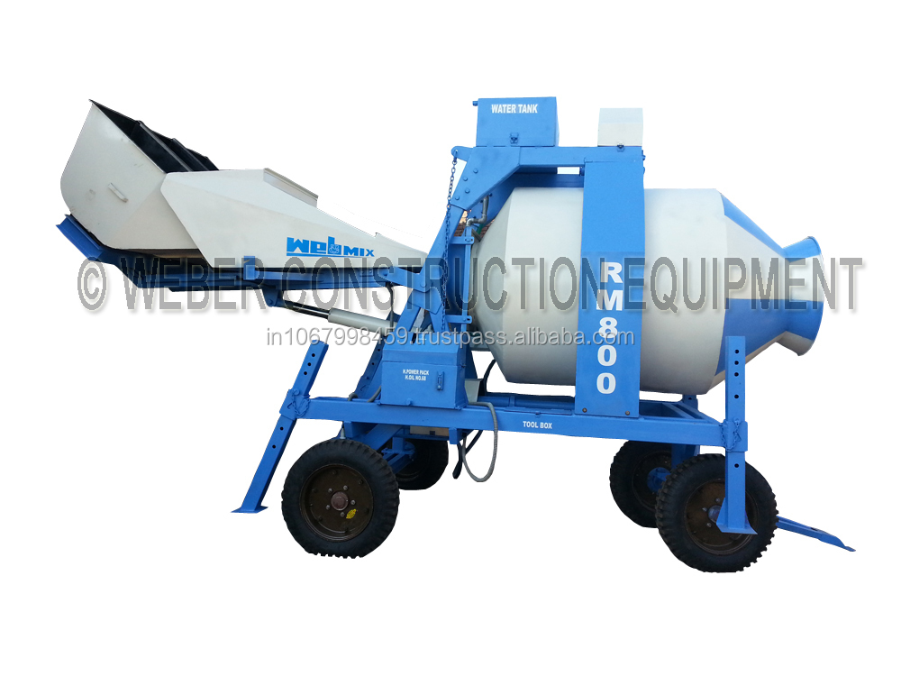 Reversible Mobile Concrete Mixer