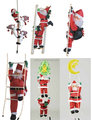 Santa Climb Light Rope Ladder Christmas Decoration Santa Climbing Light Belt Ladder