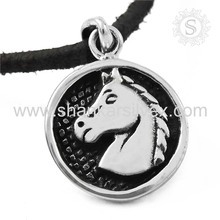 Fashionable Design Horse Gemstone Silver Jewelry Pendant 925 Silver Jewelry Manufacture