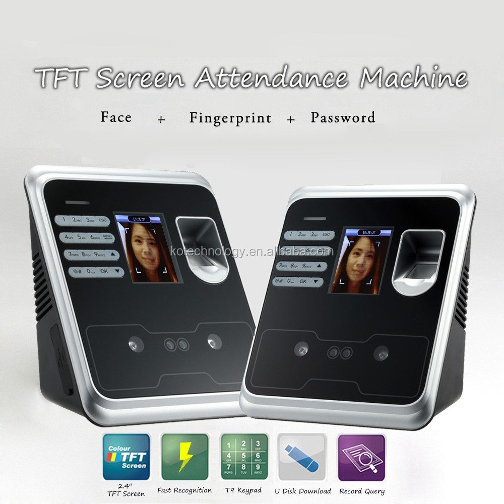 Face Recognition & Rfid Time Attendance System 200 FACE USERS 2000 FINGERPRINT USERS