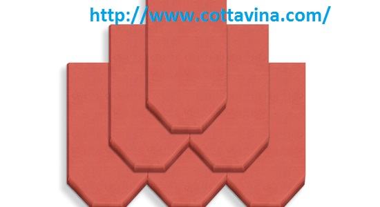 Light red terracotta roof tiles M33