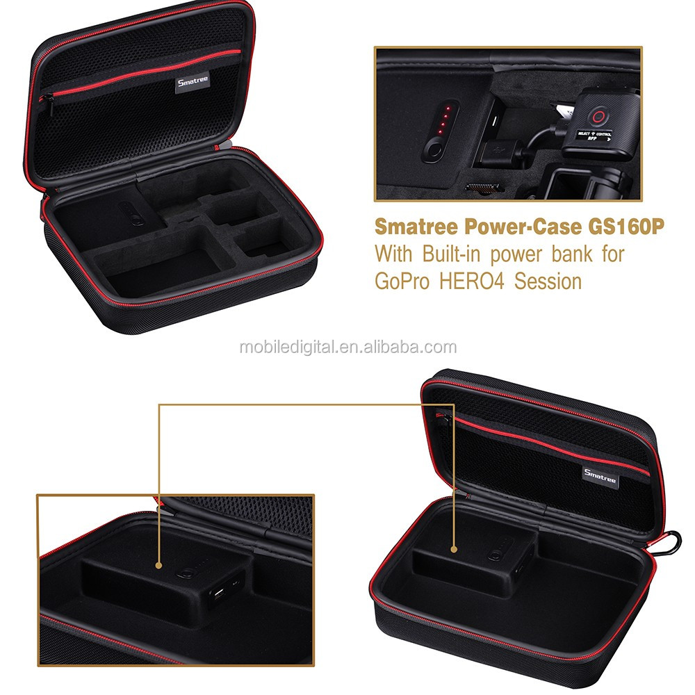Smatree Power-Case GS160P with Built-in power bank for go pro camera