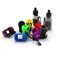 Silicone Skin for E Liquid Bottles Soft Pouch Box Protective Colorful Display Case Fit E Juice Bottle 30ML with Hook Holder