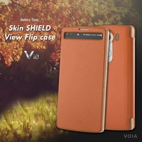 VOIA for LG V10 Skin Shield Window Flip case with battery cover