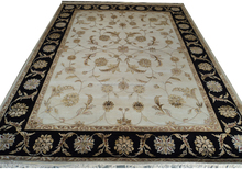 100 knots Hand knotted wool silk Carpet