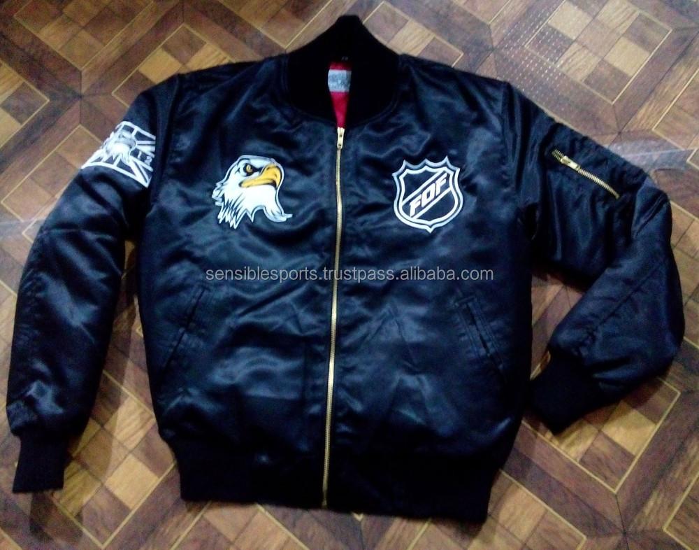 Custom Bomber Jacket Wholesale Black Military Air Force