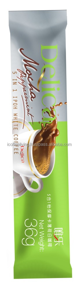Highly Recommend Creative Refreshing Flavour Delica Mocha Peppermint White Coffee
