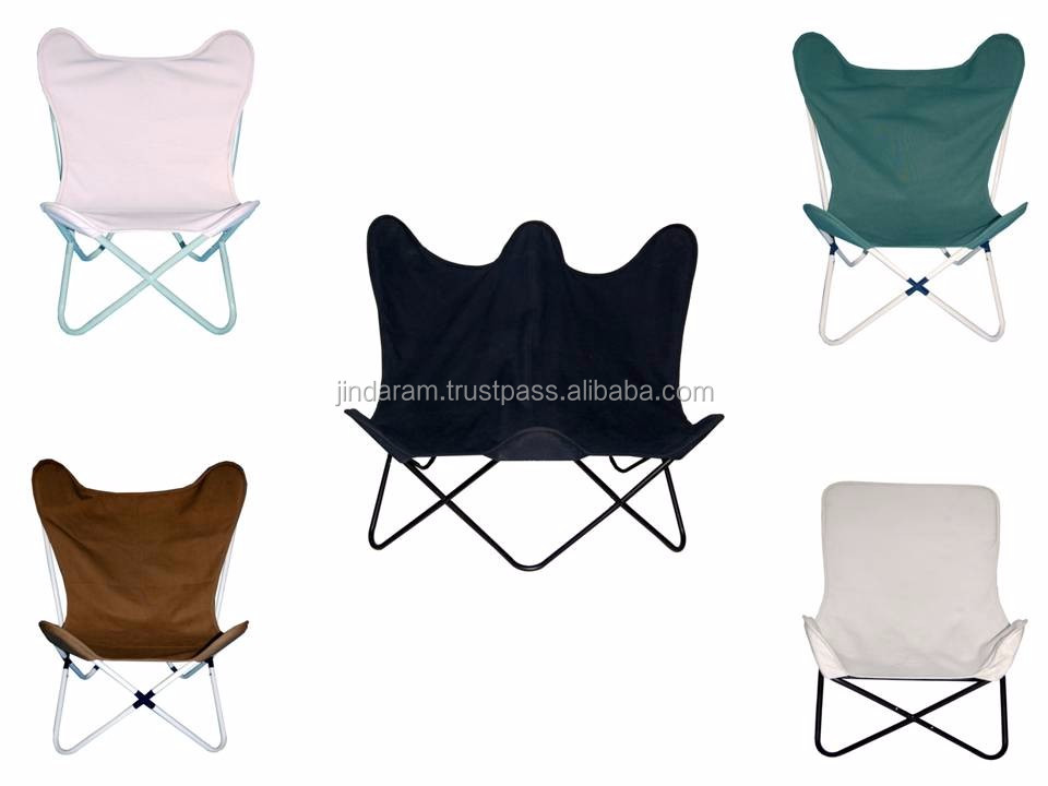 Scandinavian Small Square Butterfly Chair