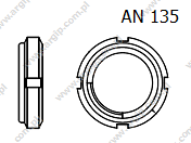 Locknut for bearing with metalic insert AN 135