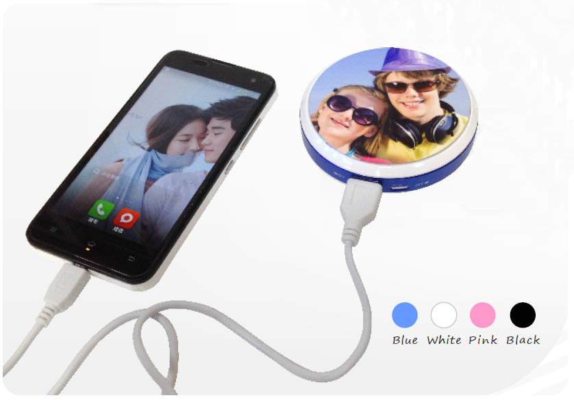 Mini 5200mAh sublimation power bank, universal USB printable power bank for emergency battery charge
