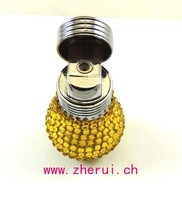 Light bulbs shaped with diamonds a cigarette lighter