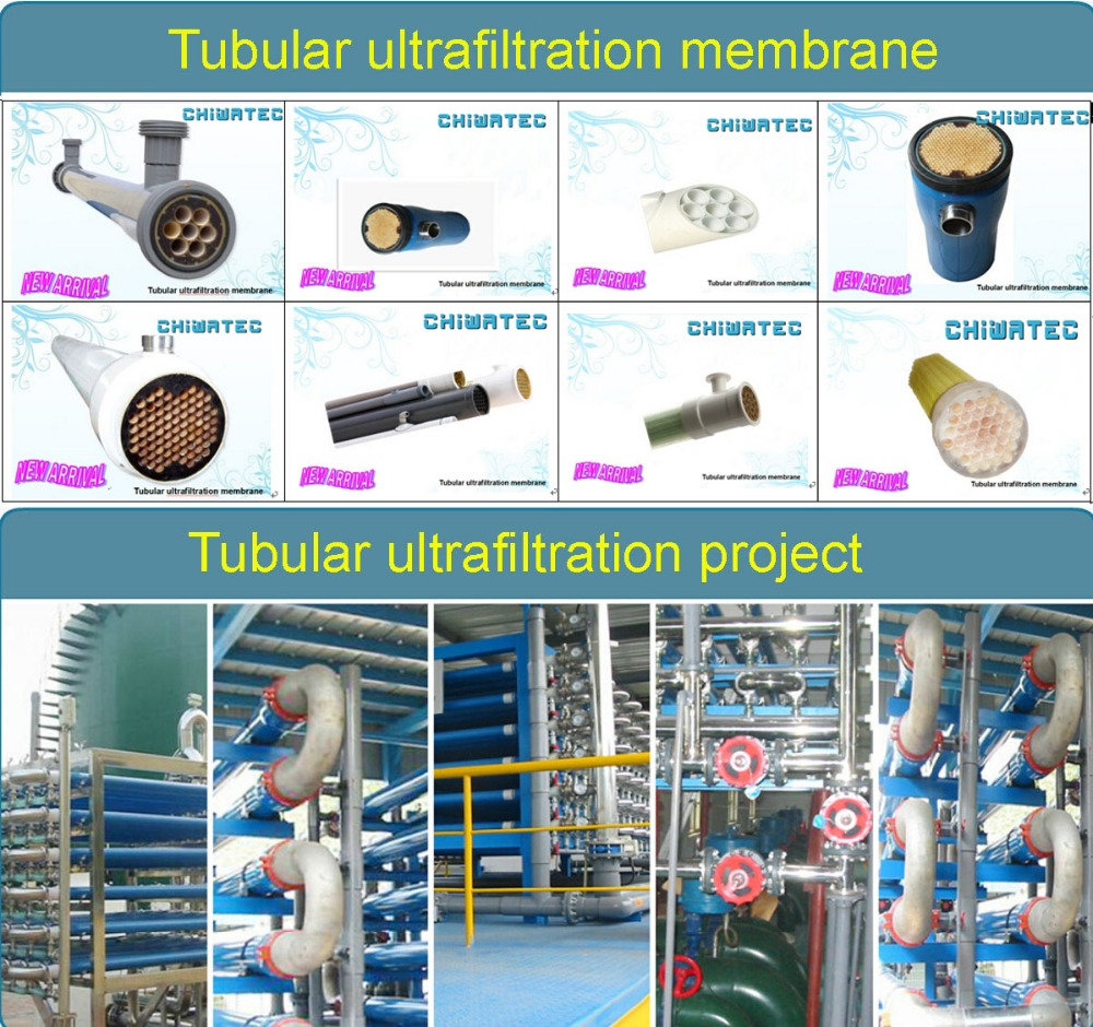 High flux tubular UF filteration