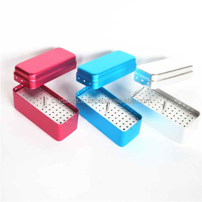 72-Slot Aluminum Bur Disinfection Box