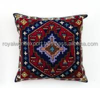 Hot Selling Traditional Kilims Style Hand Woven Cotton Sofa Seat Cushion Cover
