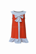 Lovely Orange Girl party casual dress