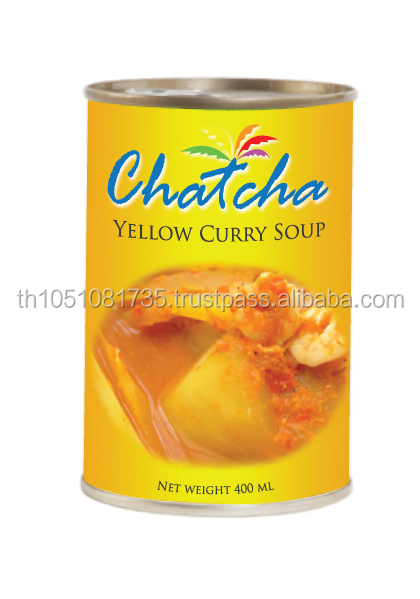 Yellow curry soup 400 ml tin canned