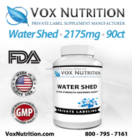 Water Shed 2175mg Supplement 90 Count - Private Label Water Shed Sports Supplement