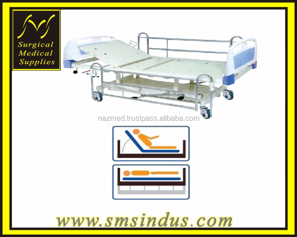 HI LO Hospital Bed 2 Section Single Fowler Positions Hydraulic Mechanism