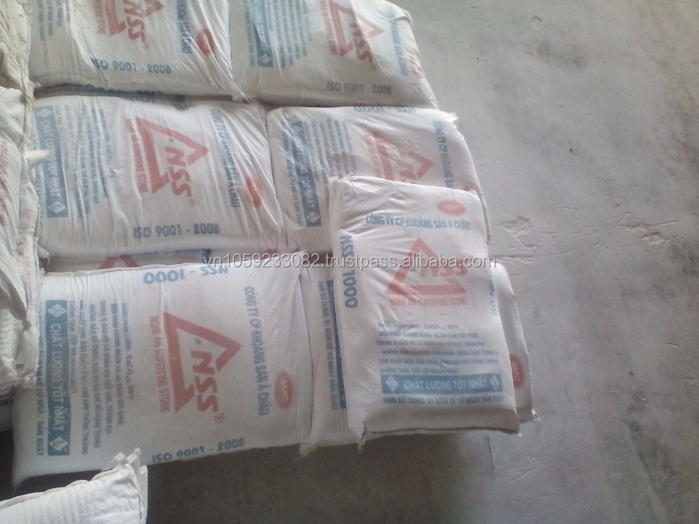 Ground Calcium Carbonate, 98.5% purity, 97% whiteness for Paper