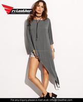 Factory custom womens 100% Cotton Plain Long T Shirts women's long sleeve ladies casual t-shirts v-neck shirts