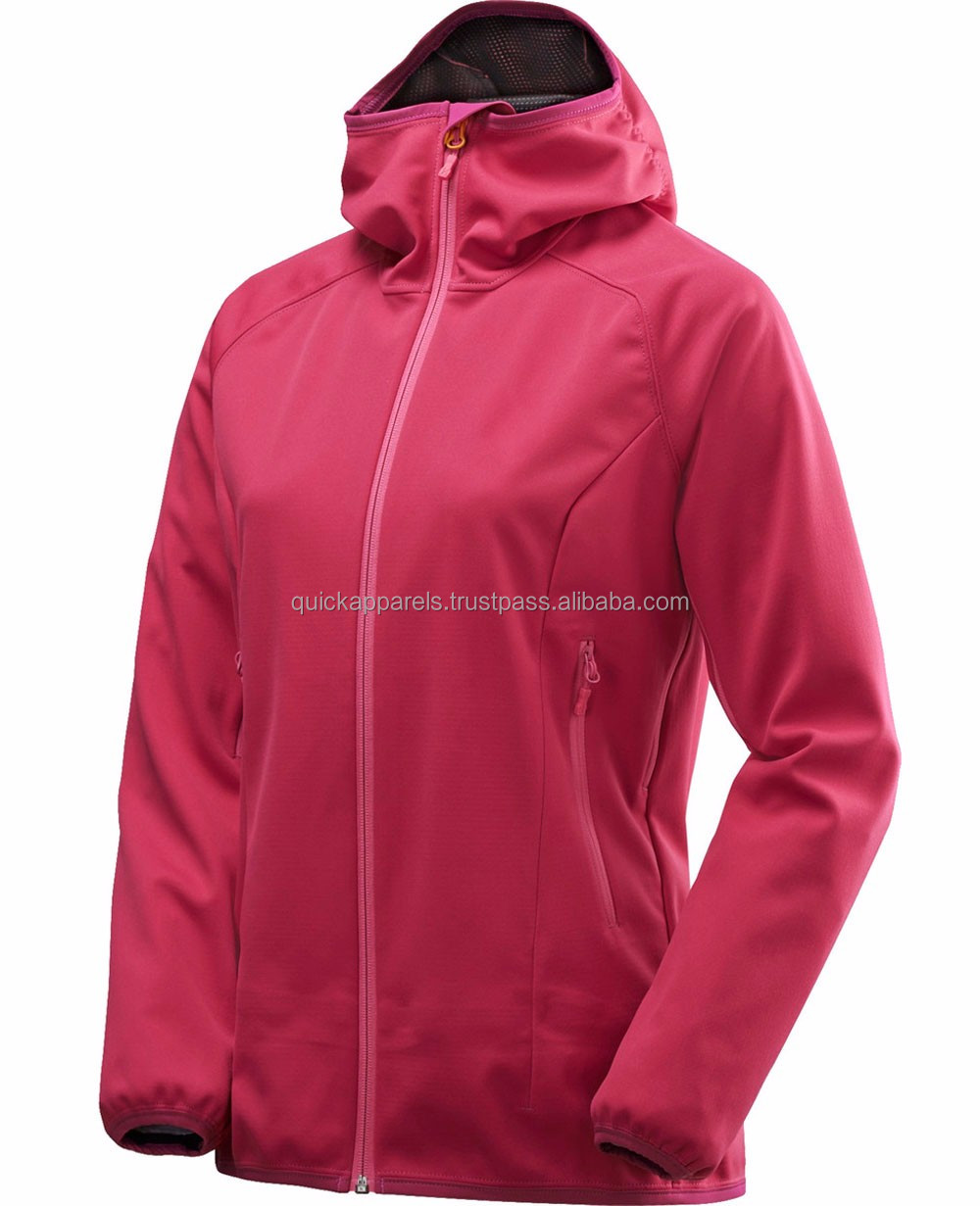 Latest design high quality woman 100% polyester soft shell sports jacket / lightweight golf jacket