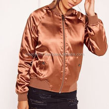 OEM Service Sports Style Women Two-tone Satin bomber jaket for men