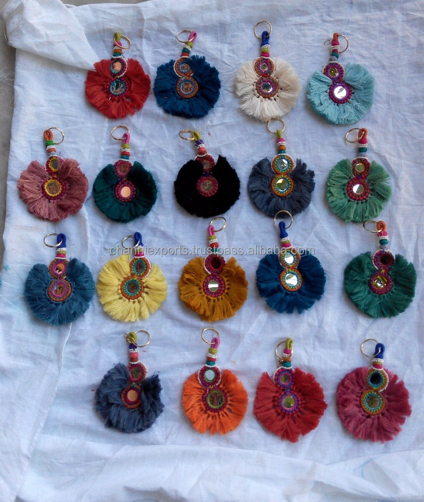 Banjara Key chains with colorful fringes