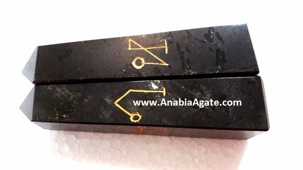 Black Tourmaline Usai Reiki Towers from India