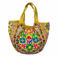 Credible Quality Reasonable Newest Floral Suzani Embroidery Matka Handbags From Jaipur India For Travel & Shopping Shoulder Bag