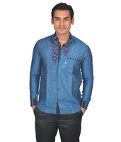 Linen Full Sleeve Partywear Men's Shirt New Design