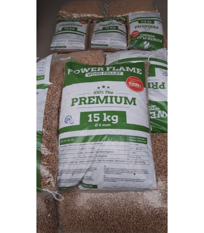 Din + Wood Pellet packed in 15kg bags FROM UKRAINE.