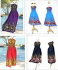 Floral Rainbow HIPPIE BOHO HAWAII BLOCK MAXI BABY DOLL beach long style LONG DRESS