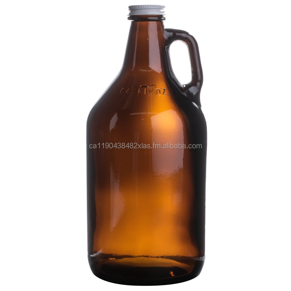 2L / 64oz Amber Glass Beer Bottle