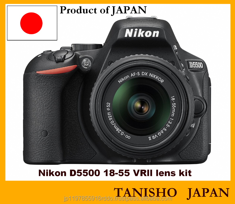 Authentic Japanese DSLR D5500 Camera and Lens Nikon Kit popular with pro photographer