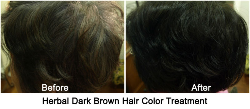 Herbal Dark Brown Henna Powder, 100% Chemical Free Hair Color