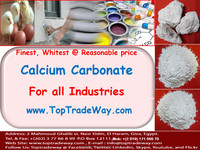 Coated / Uncoated High Whiteness Calcium Carbonate Powder