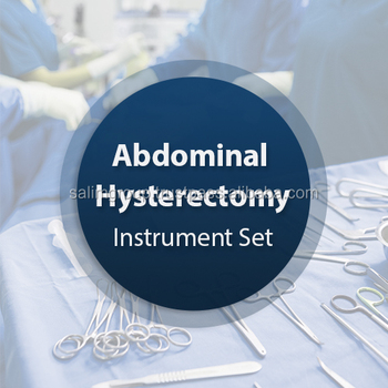 Abdominal Hysterectomy Instrument Set, All King of Surgical Instruments Sets.