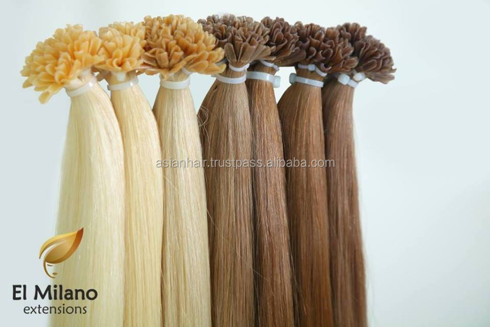 Best Products High Quality Uzbek Remy Hair Huamn Hair Extension Flat Tip Natural Virgin Hair No Tangle No Shedding !!!