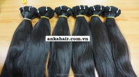 Double drawn machine weft 100% remy natural virgin straight hair extension