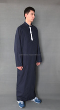 2016 Autumn Winter Muslim Black Abaya/ Turkish Jilbabs/ Thobe/ Islamic Dubai Arabe Long Dress for Men