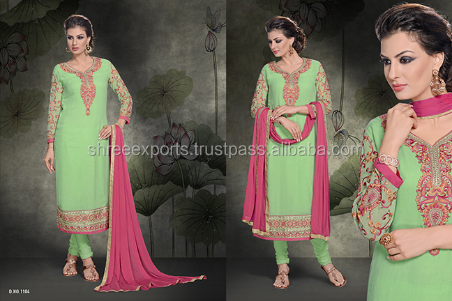 Sea Green Churidar Salwar Kameez