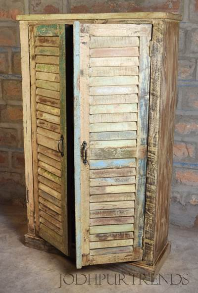 Indian Handicraft, Reclaimed wood Almirah , Recycled Furniture design