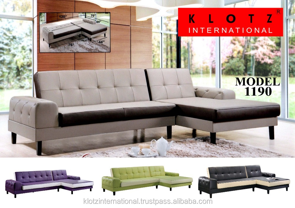 Modern Sectional Corner Button Design Sofa Bed 1190