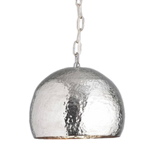 Silver Plated Hammered Pendant lamp For Wedding Decoration