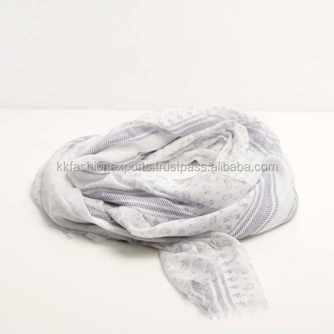 cotton printing scarf for lady wholesale
