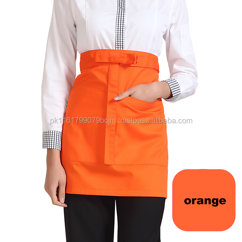 Mens Kitchen Low Price Half Waist Apron For Cooking