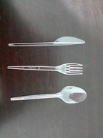 Transparent spoon / fork / knife Single-use Disposable Plastic Cutlery Set Airplane ,restaurants,hotels and cafe