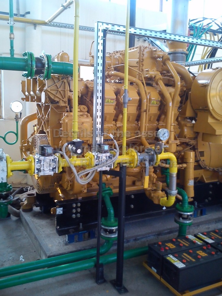 1MWe CATERPILLAR G3508LE Generator set [x2] Unused pre-owned Natural Gas Power Plant 2006y 50Hz 400V