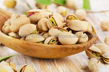 Greek raw insell opened mouth pistachios