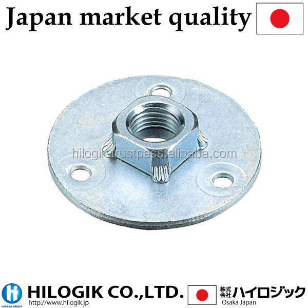 Traditional wheel caster plate M10 (P1.5)mm Path 50 3mm in thickness